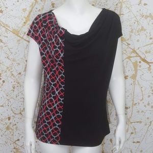 East 5th Cowlneck cap sleeve top size Medium
